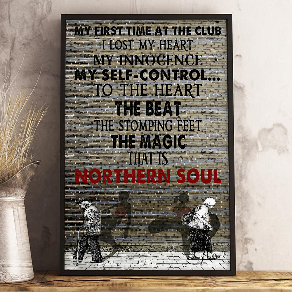 The First Time At The Club Northern Poster