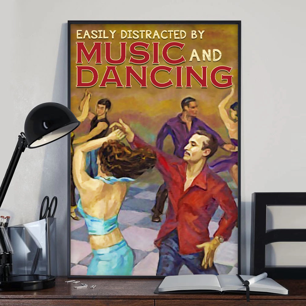 Salsa Easily Distracted Poster