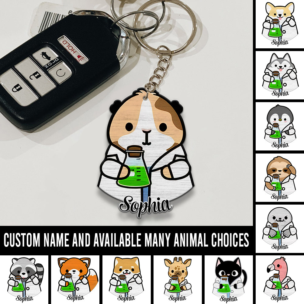 6M Personalized Keychain Lab Tech Chemistry