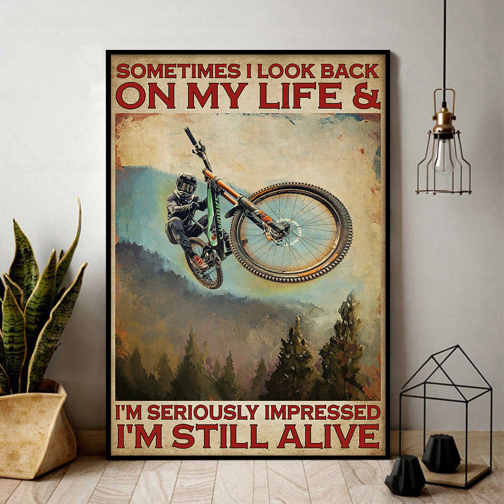 Mountain Biking Alive Poster