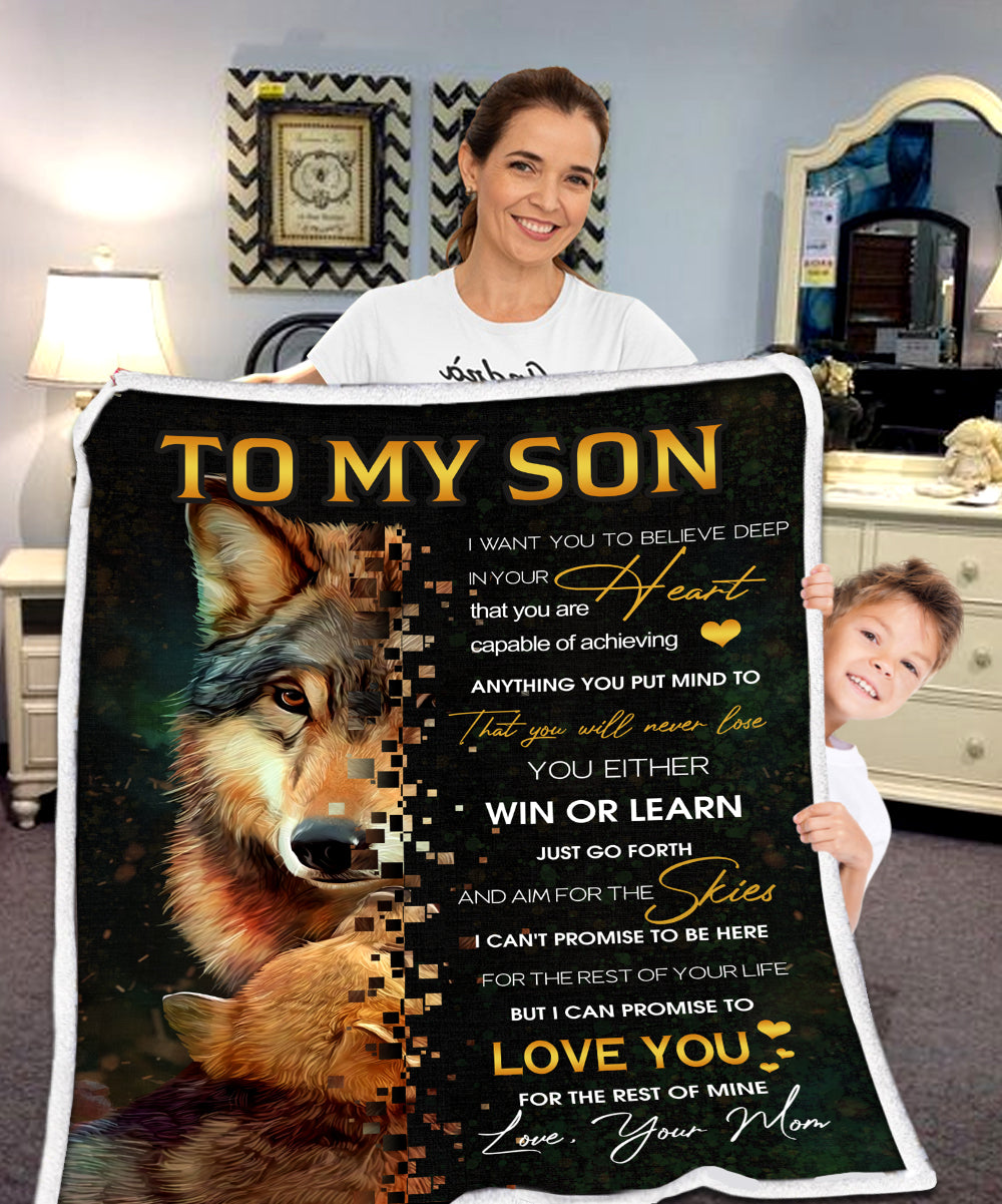 Deep Heart Wolf Blanket