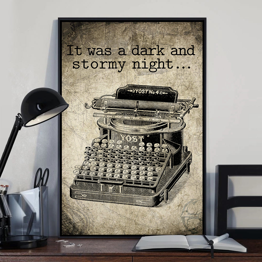 It Was Dark Stormy Night Poster