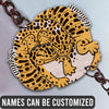 6M Personalized Keychain Leopard Gecko Couple