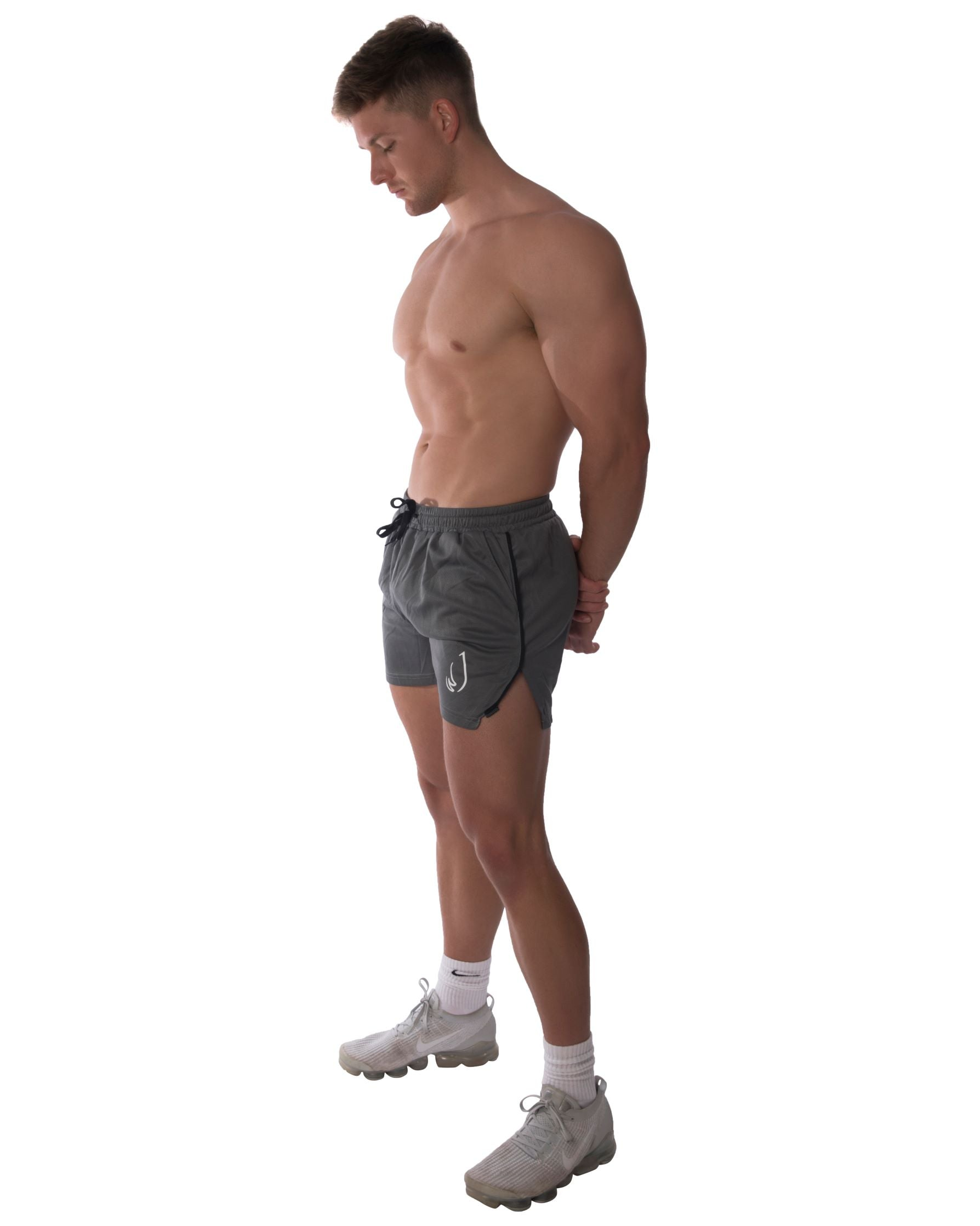 Men's mesh quick drying fitness training shorts
