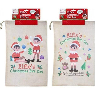 Christmas Eve Elf Xmas Gift Treat Drawstring Bag - Melianbie Kids