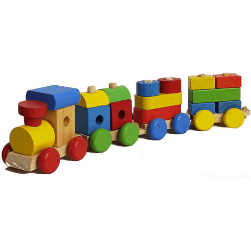 Wooden Puzzle Shape Train Set