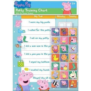 Peppa Pig Character Potty Training Reward Chart with 56 Reusable Stickers
