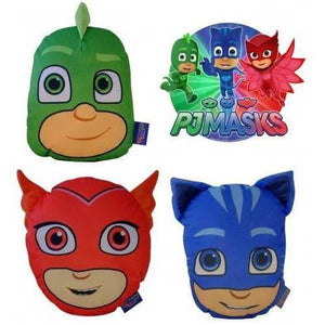 PJ Masks 3D Character Plush Shaped Cushion with Pyjama Pouch Zip Pocket
