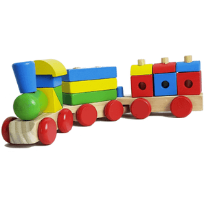 Wooden Train with 3 cars