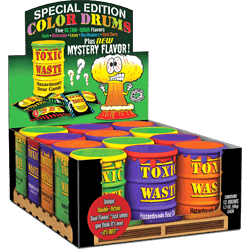 TOXIC WASTE SPECIAL EDITION COLOR DRUMS ASSORTED SUPER SOUR CANDY - Melianbie Kids