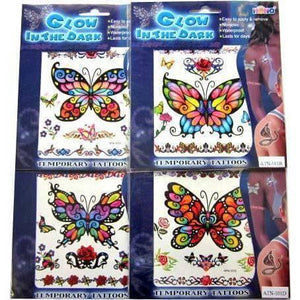 Glow In The Dark Butterfly Tattoos
