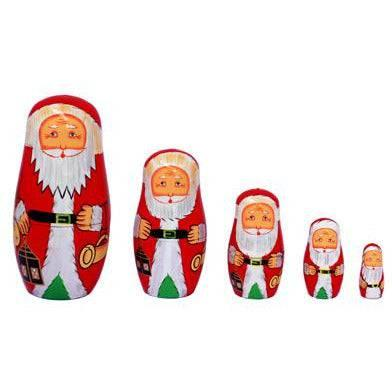Russian Santa Nesting Dolls 5pcs - Melianbie Kids