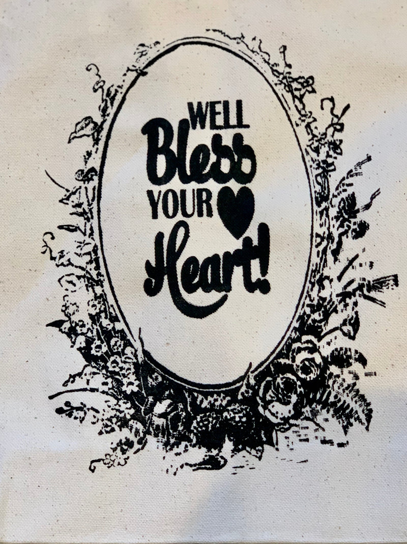 Well, Bless Your Heart Canva's Tote - Shabby Creek Off Main