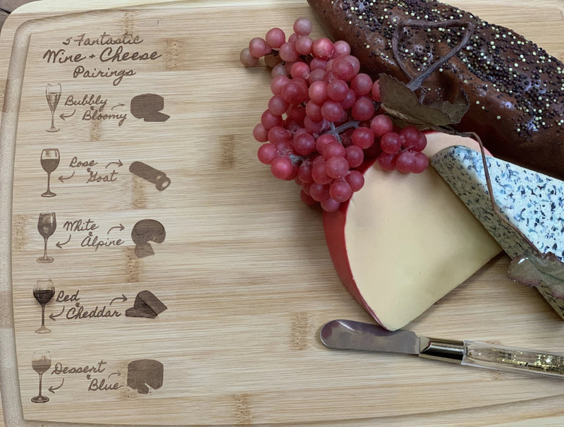 Wine Pairing Large Cheese/Charcuterie Board - Shabby Creek Off Main