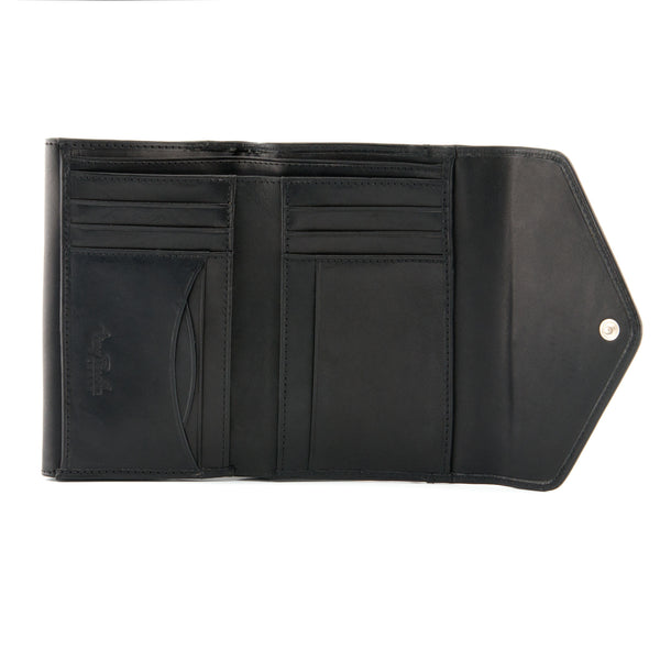Italian Leather Double Flap Purse By Tony Perotti