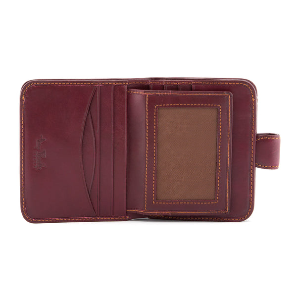 Italian Leather Flap Over Tabbed Purse By Tony Perotti