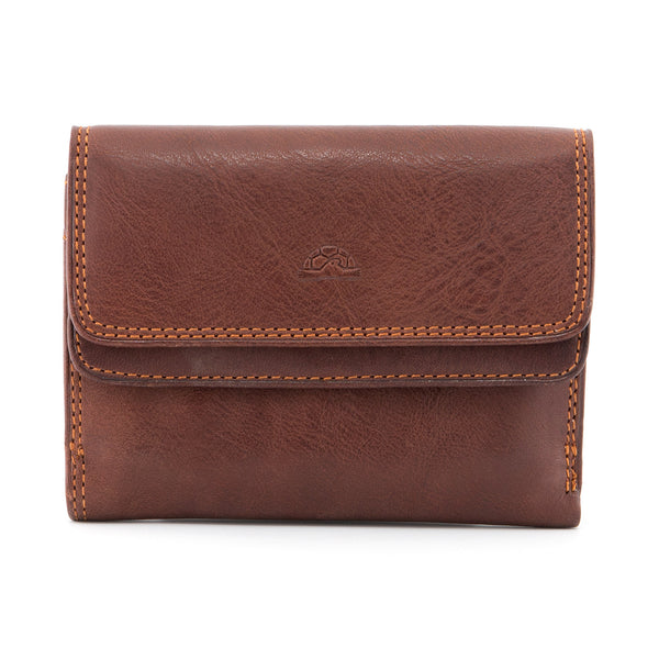 Italian Leather Double Flap Over Purse By Tony Perotti