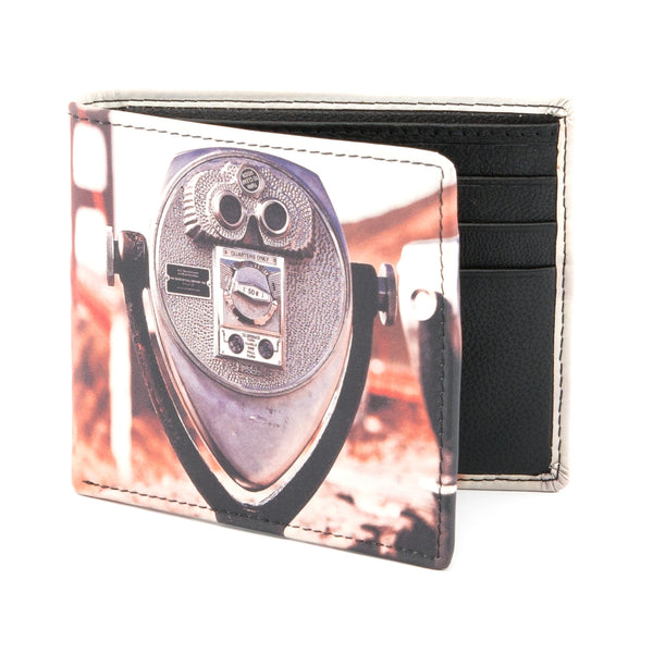 2039 19 - Two Fold Leather San Francisco Print Wallet