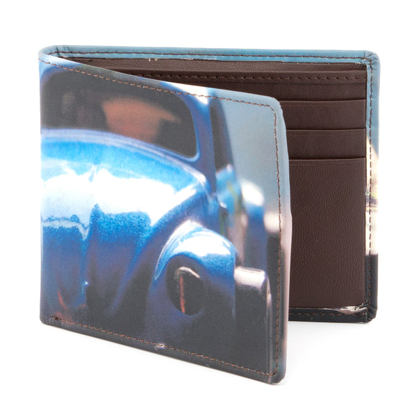 2039 19 - Two Fold Leather Car Print Wallet