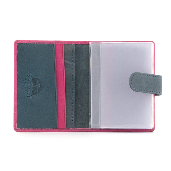 5001 46 - Leather Credit Card Holder with Tab & Plastic Inserts