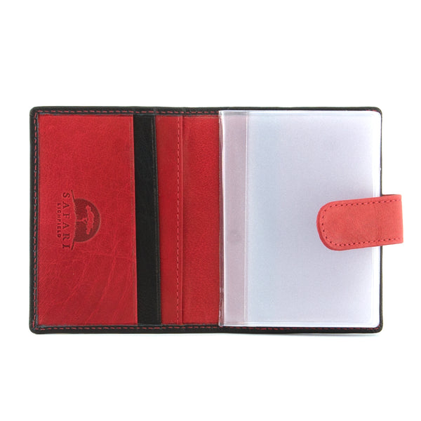 Soft Leather Credit Card Holder With Tab by Safari