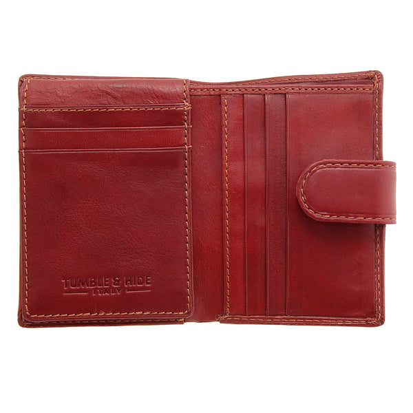 5006 THV - Italian Leather Credit Card Holder with Tab