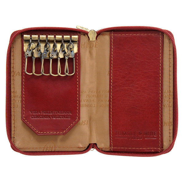 5209 THV - Italian Leather Zip Around Keycase