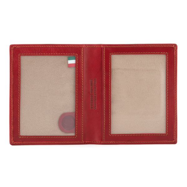6802 THV - Italian Leather Double Photo Frame