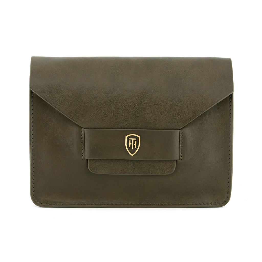 8103 THV - The Calstone Italian Leather Flap Over Bag / Clutch