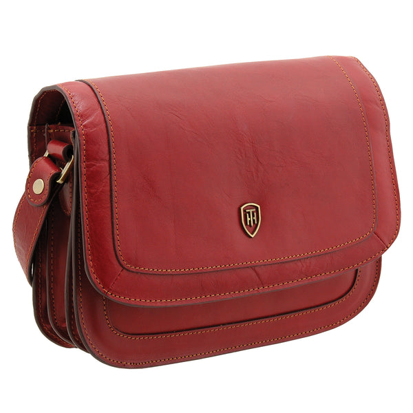 8109 THV - The Trento Italian Leather Flap Over Bag