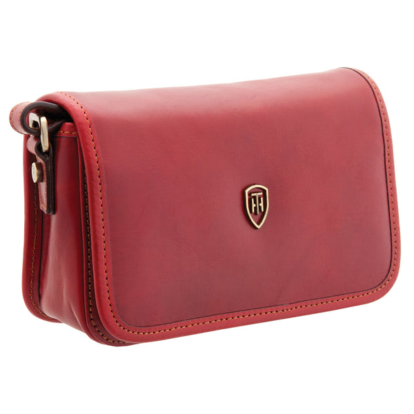 8120 THV - The Casoni Italian Leather Flap Over Bag