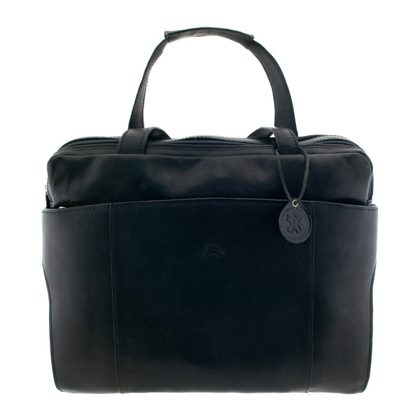Italian Leather Business Bag by Tony Perotti