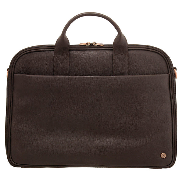 8376 12 - Leather Laptop Bag/Briefcase