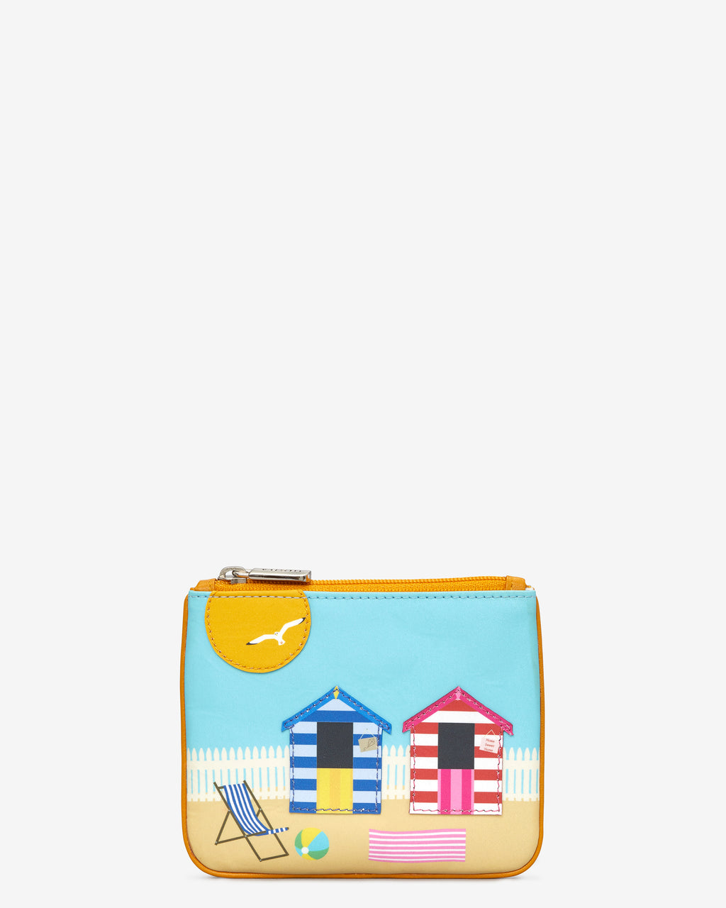 Y By Yoshi Beach Hut And Sun Leather Zip Top Purse