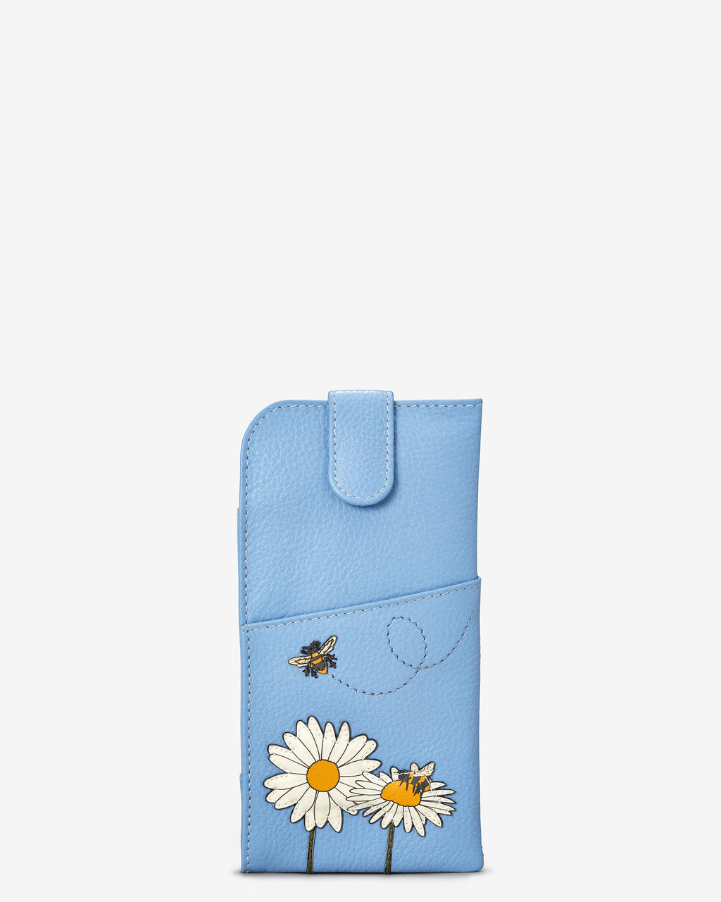 Bee Happy Leather Glasses Case