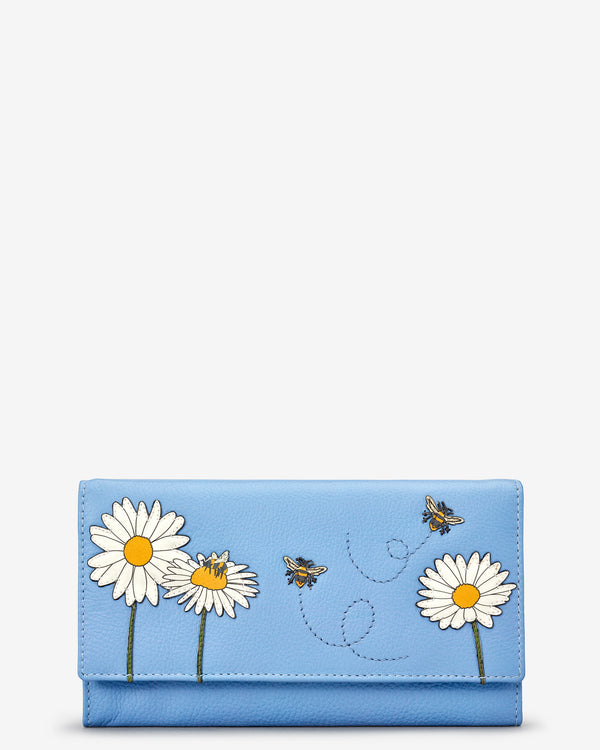 Bee Happy Flap Over Leather Purse