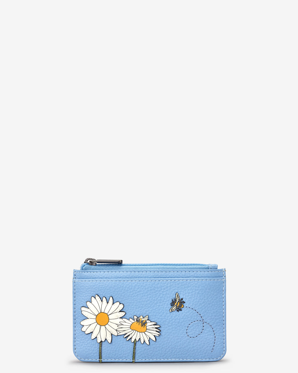Bee Happy Morton Leather Card Holder