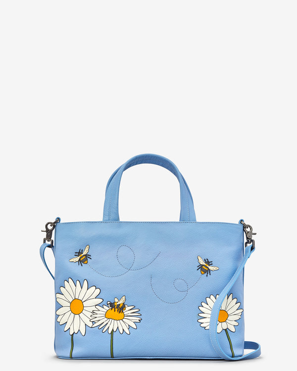 Bee Happy Leather Grab Bag