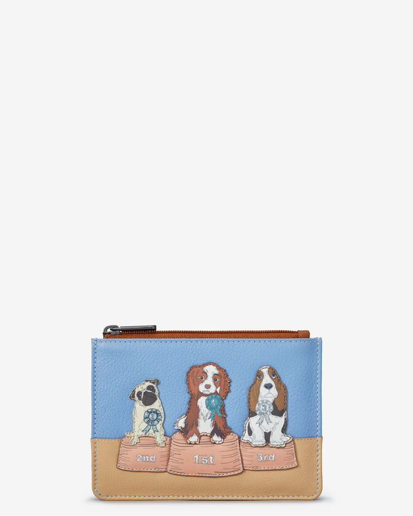Best In Show Dog Zip Top Leather Purse