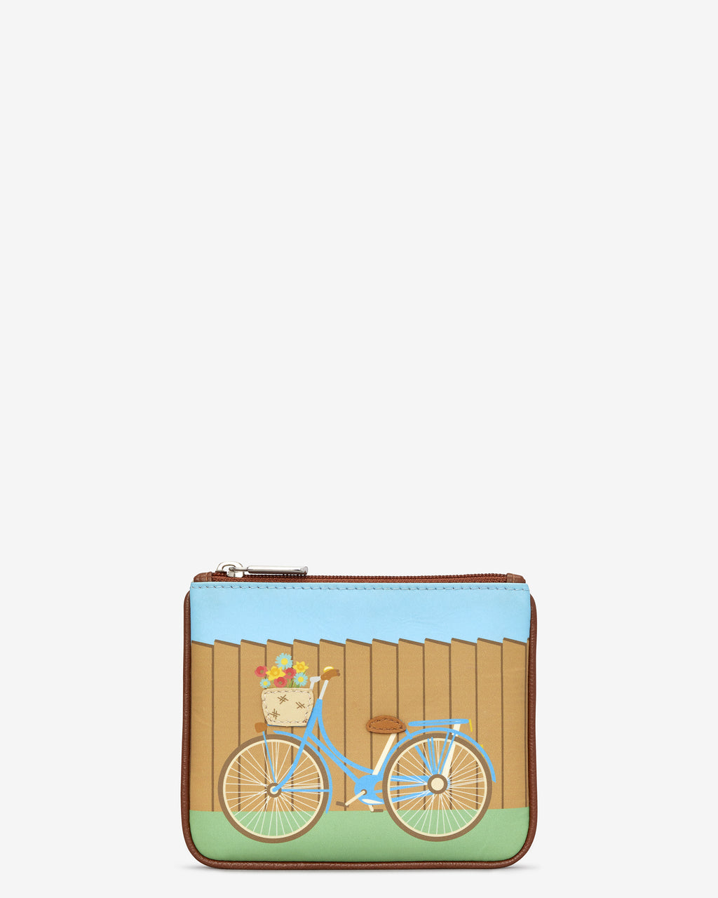Y By Yoshi Leather Zip Top Bicycle Purse