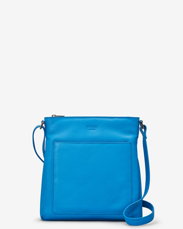Bryant Cobalt Blue Leather Cross Body Bag