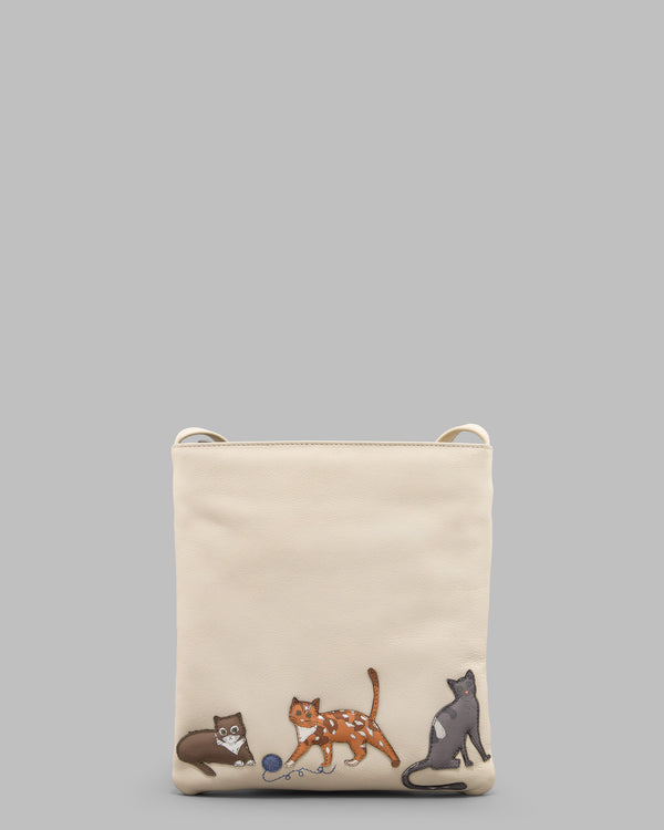 Cats Whiskers Leather Cross Body Bag