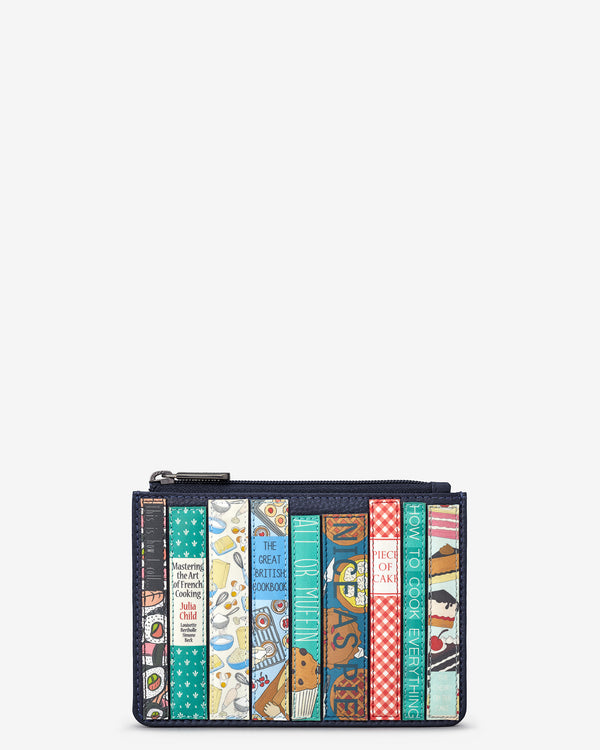Cook Bookworm Zip Top Leather Purse
