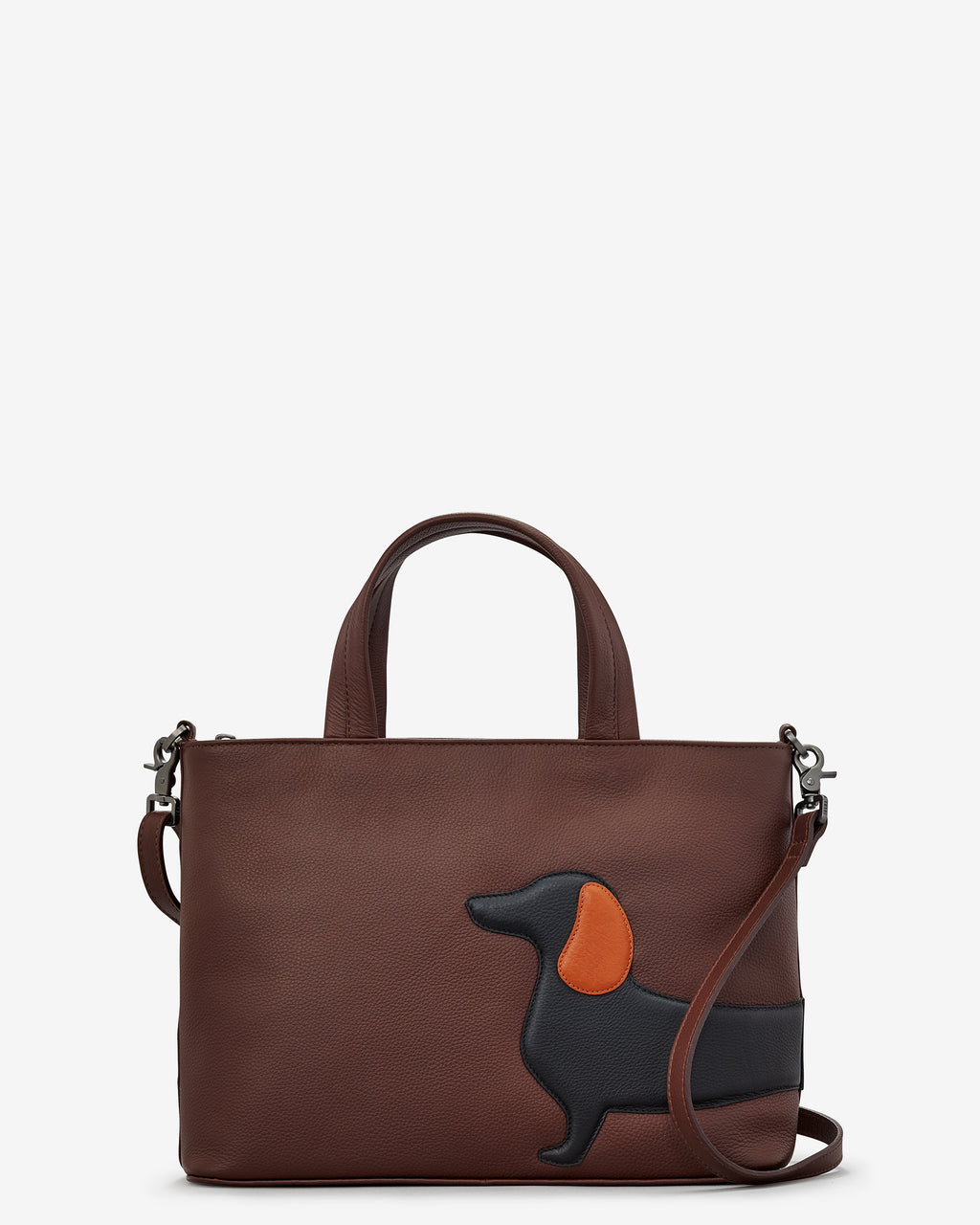 Delilah The Dachshund Leather Grab Bag