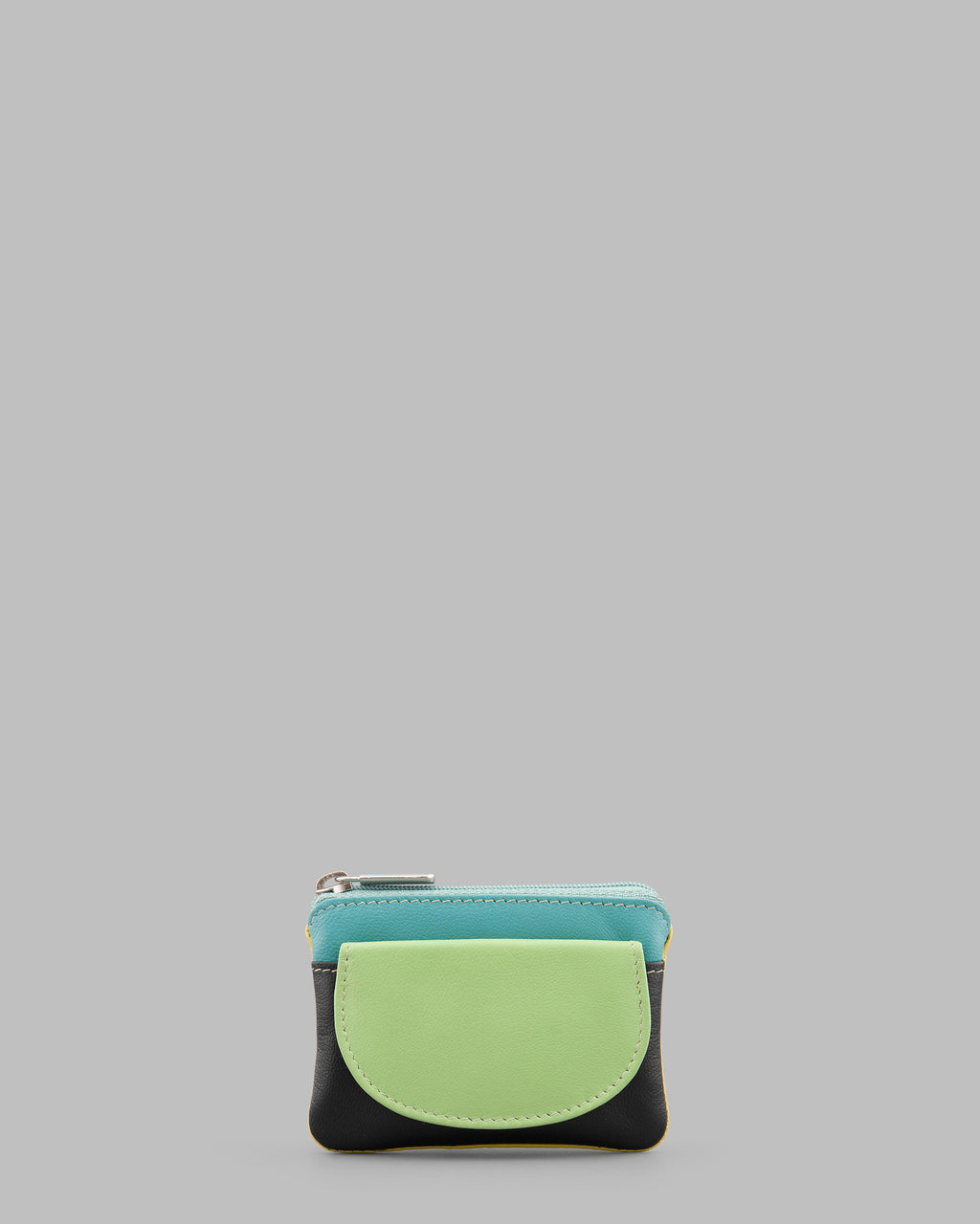 Y By Yoshi Multicolour Flap Over Leather Coin Purse