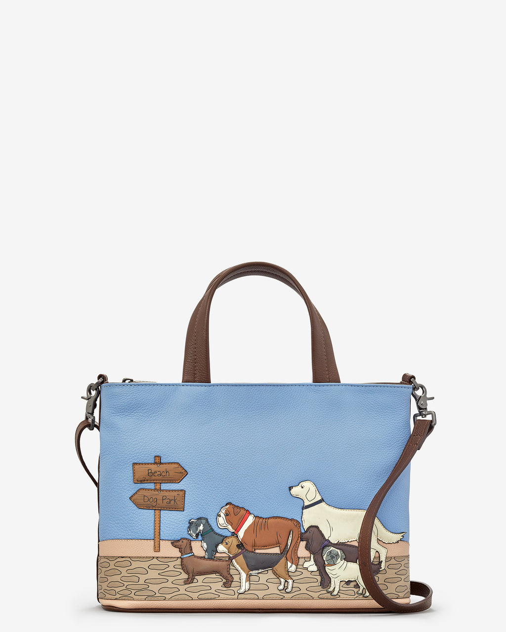 Dog Walk Leather Grab Bag