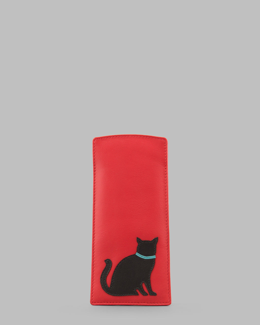 Y By Yoshi Feline Friends Leather Glasses Case
