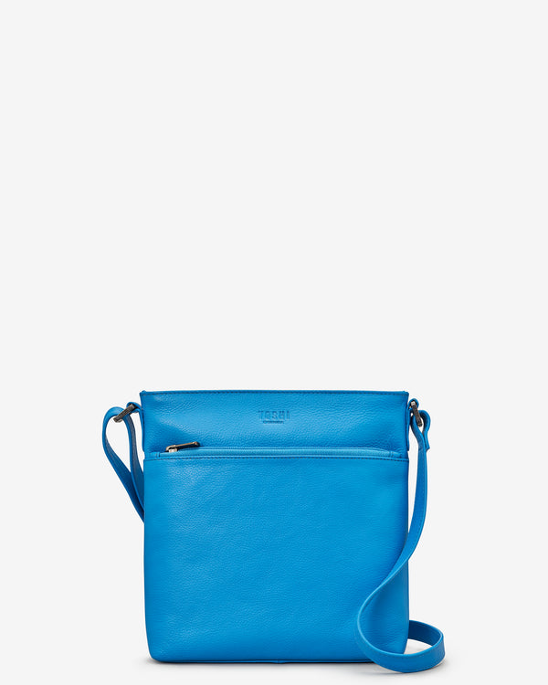 Garrick Cobalt Blue Leather Cross Body Bag