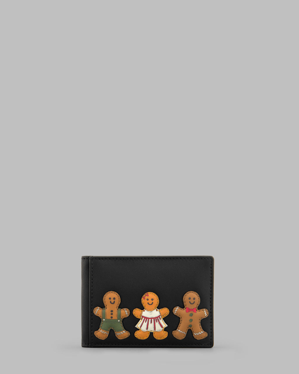 Gingerbread Gang Leather Travel Pass Holder
