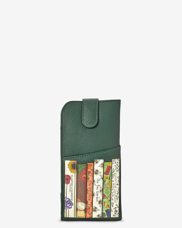 Green Fingers Bookworm Library Leather Glasses Case